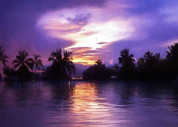 Digital Art - Purple Paradise by Charmaine Zoe