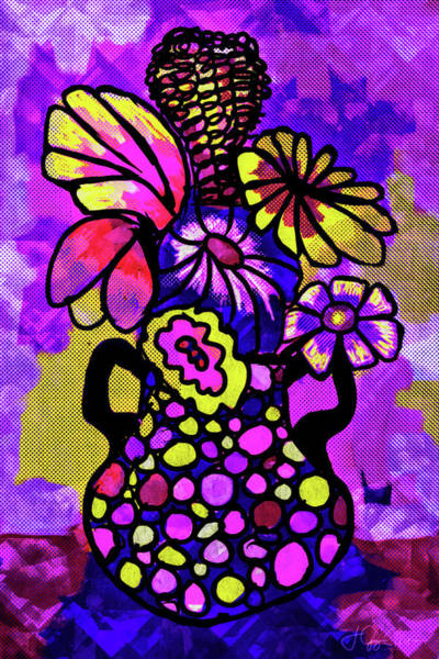 Digital Art - Purple Party by Jo-Anne Gazo-McKim