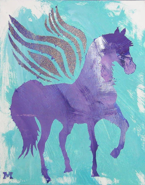 Painting - Purple Pegasus by Candace Shrope