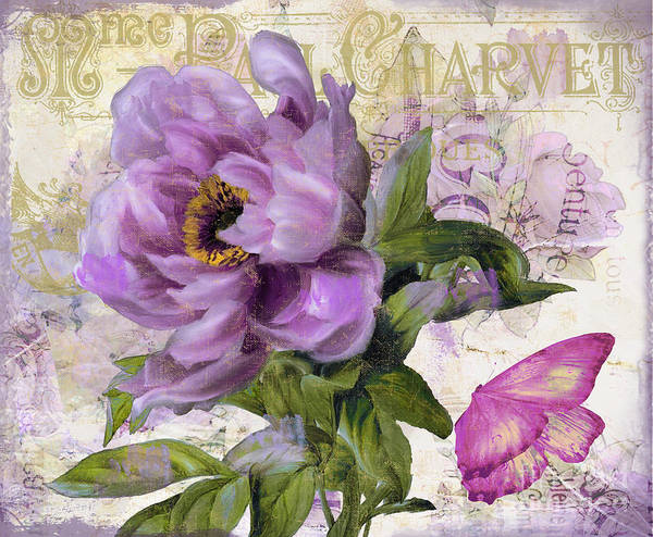 Wall Art - Painting - Purple Peony by Mindy Sommers