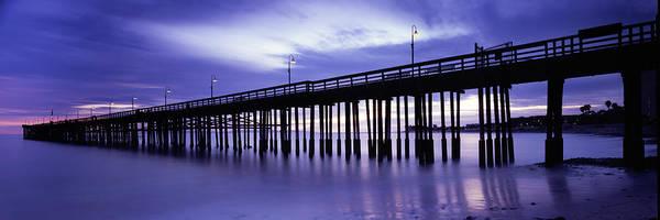 Piling Photograph - Purple Pier by Steve Munch