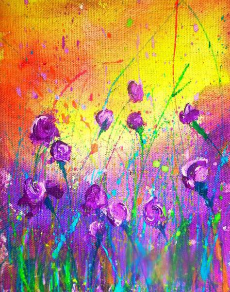 Purple Posies Art Print