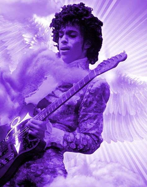 Psychedelia Digital Art - Purple Prince by Eric J Amsellem