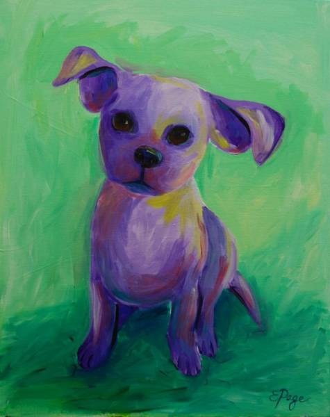 Painting - Purple Puppy by Emily Page