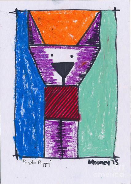Pastel - Purple Puppy by Michael Mooney