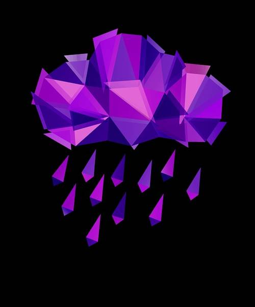 Crying Digital Art - Purple Rain by Julia Jasiczak