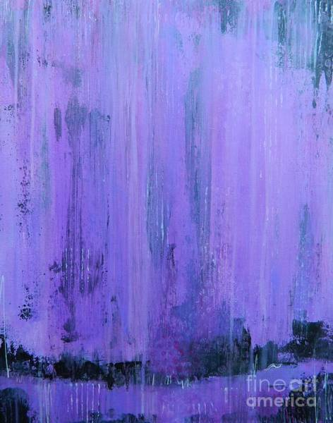 Wall Art - Painting - Purple Rain by Kate Marion Lapierre