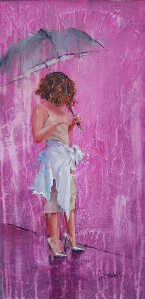 Wall Art - Painting - Purple Rain by Laura Lee Zanghetti