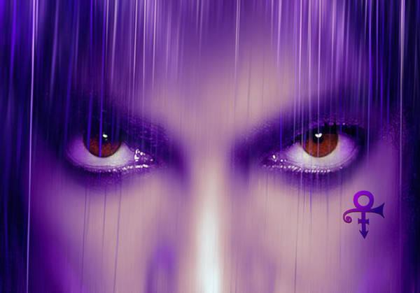 Prince Rogers Nelson Wall Art - Mixed Media - Purple Rain Purple Rain by Mal Bray