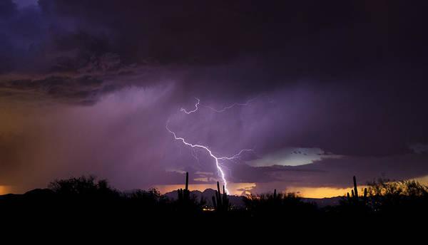 Silhoutte Photograph - Purple Rain, Purple Rain by Saija Lehtonen