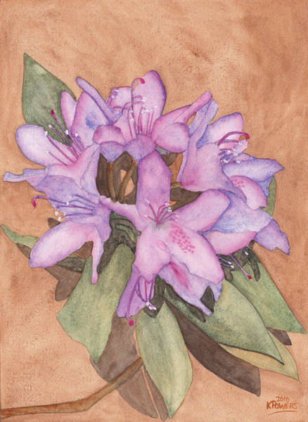 Painting - Purple Rhododendron by Ken Powers
