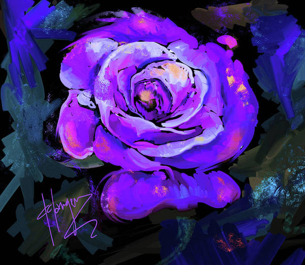 Painting - Purple Rose by DC Langer