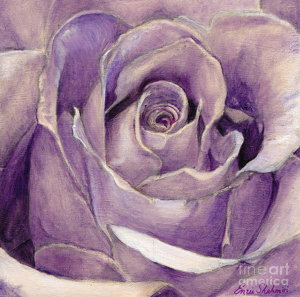 Wall Art - Painting - Purple Rose by Portraits By NC
