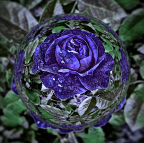 Digital Art - Purple Rose In A Bubble by Artful Oasis