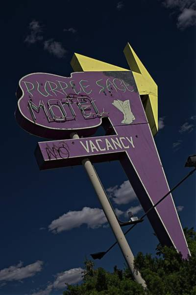 Photograph - Purple Sage Motel by Thomas Hall