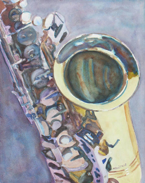Wall Art - Painting - Purple Sax by Jenny Armitage