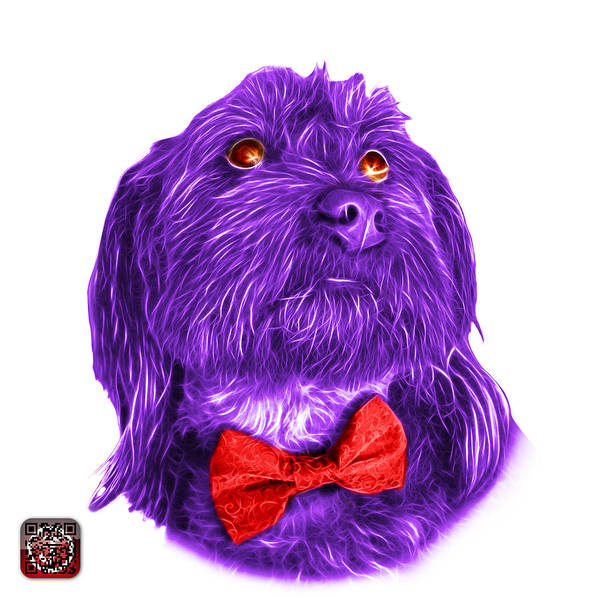 Painting - Purple Schnoodle Pop Art - 3687 by James Ahn