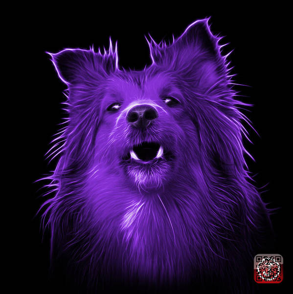 Painting - Purple Sheltie Dog Art 0207 - Bb by James Ahn