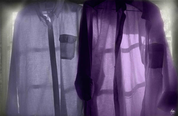 Photograph - Purple Shirts In A Window by Wayne King