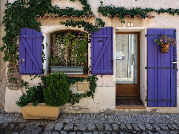 Photograph - Purple Shutters by Gary Karlsen