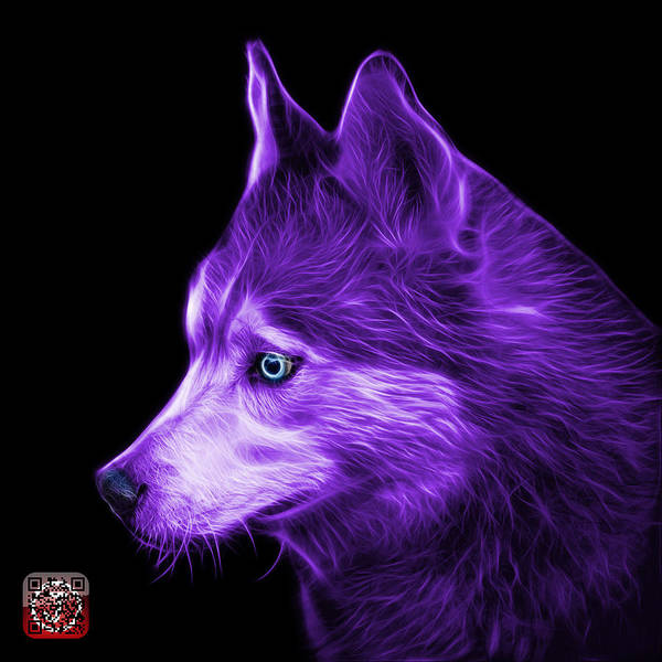 Painting - Purple Siberian Husky Art - 6048 - Bb by James Ahn