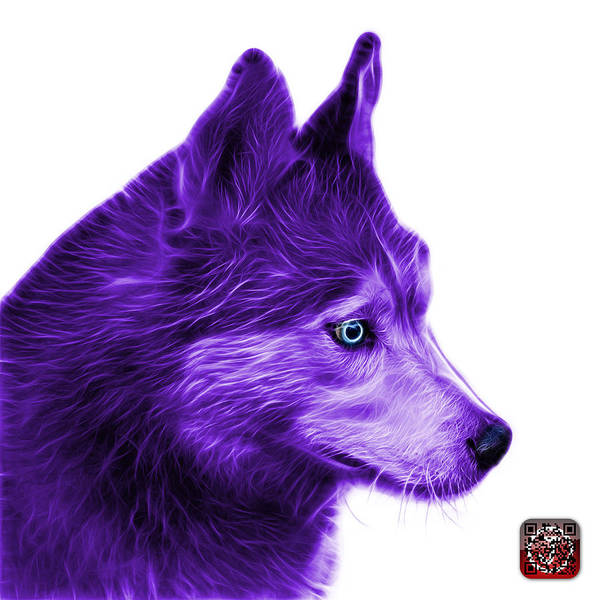 Painting - Purple Siberian Husky Art - 6048 - Wb by James Ahn