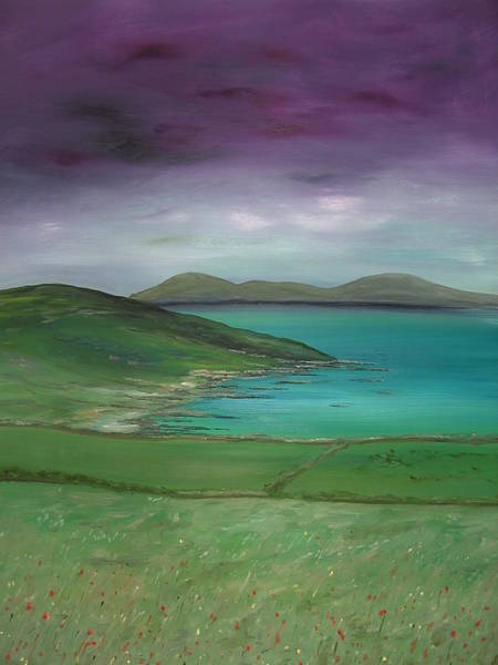 Donegal Painting - Purple Sky Over Donegal by Maurice Noble