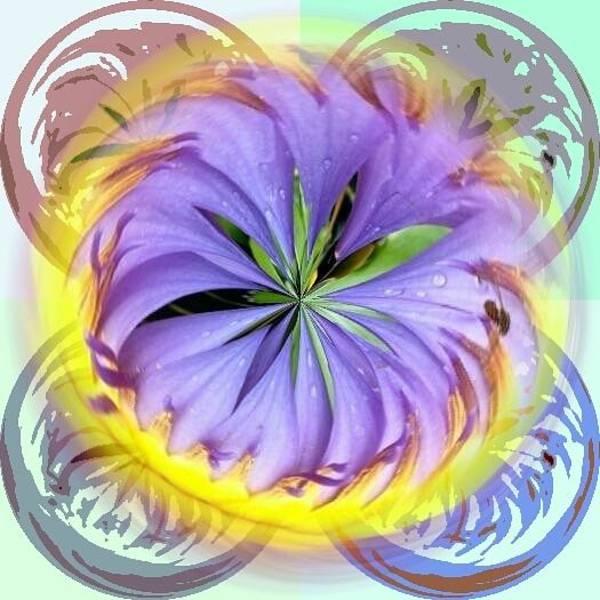 Digital Art - Purple Spiral by Pamela Walton