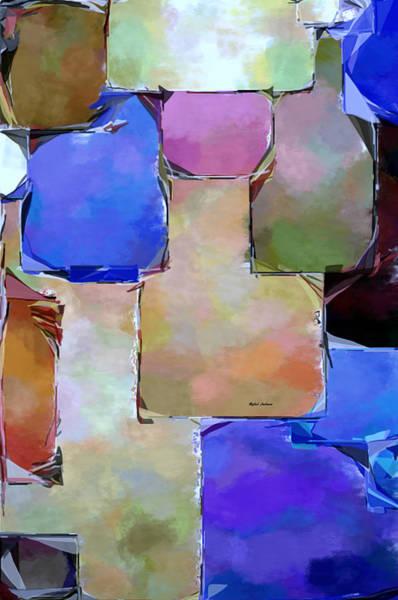 Digital Art - Purple Squares by Rafael Salazar