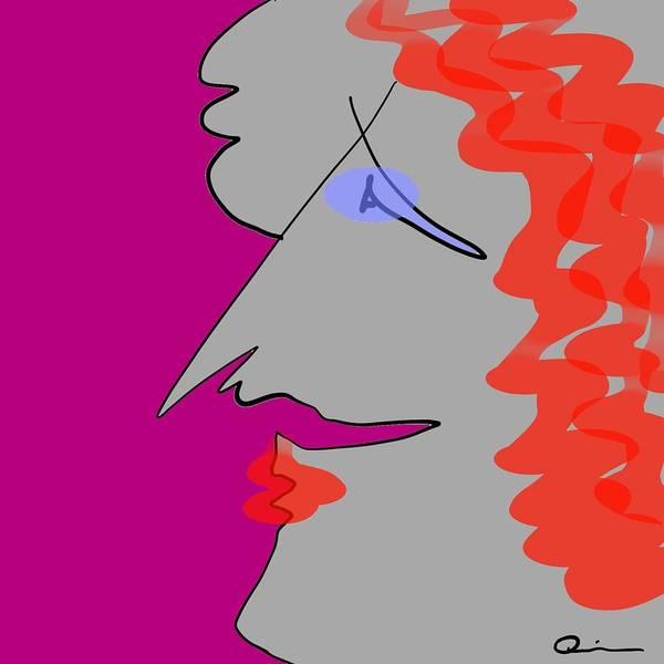 Purple Stache Art Print