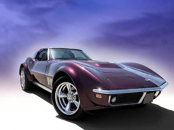 Corvette Wall Art - Digital Art - Purple Stinger by Douglas Pittman