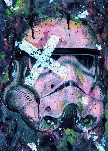 Han Solo Wall Art - Painting - Purple Stormtrooper by Nate Michaels