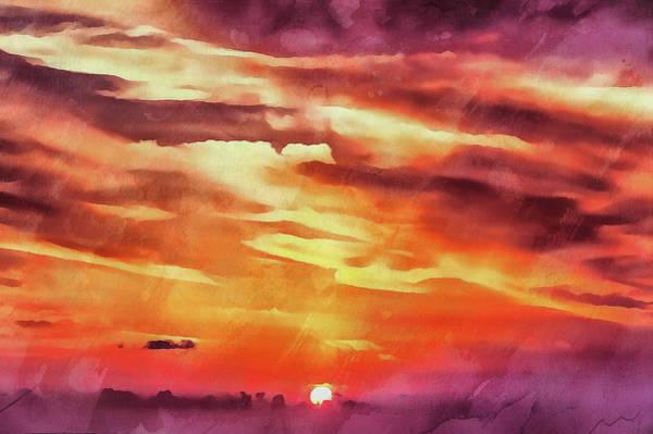 Digital Art - Purple Sunset by Michael Goyberg