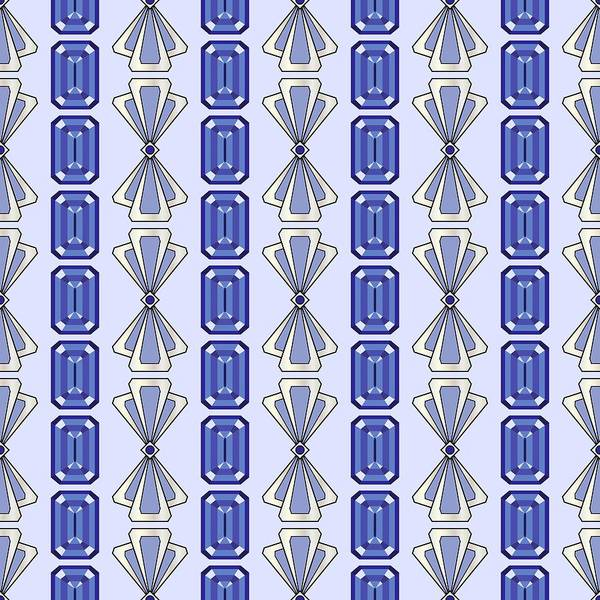 Digital Art - Purple Tanzanite Deco Stripe by MM Anderson