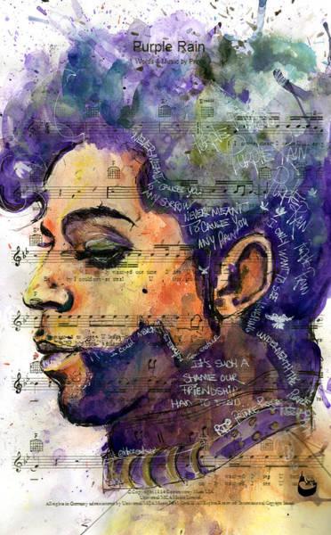 Howard Painting - Purple Tears by Howard Barry