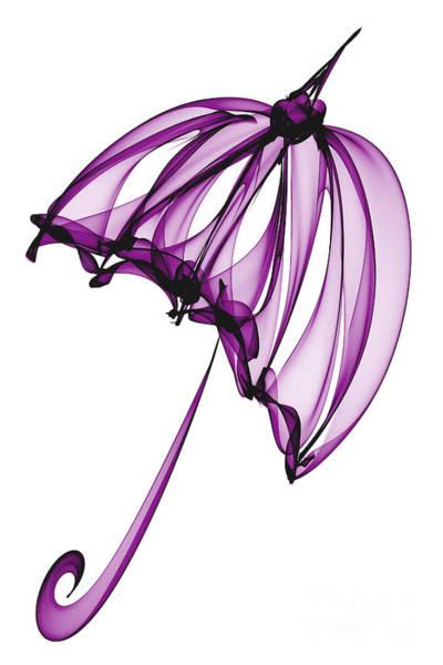 Purple Rain Digital Art - Purple Umbrella by Ann Garrett