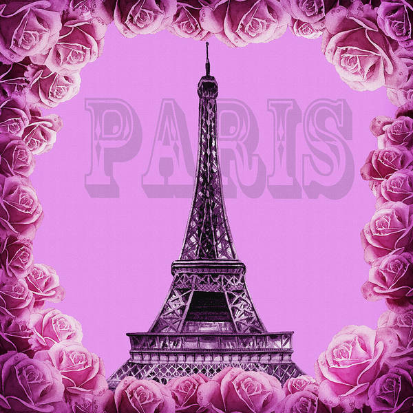 Painting - Purple Vintage Paris by Irina Sztukowski