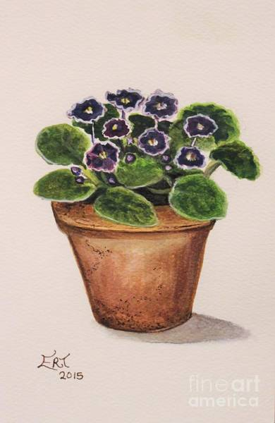 Painting - Purple Violets by Elizabeth Robinette Tyndall