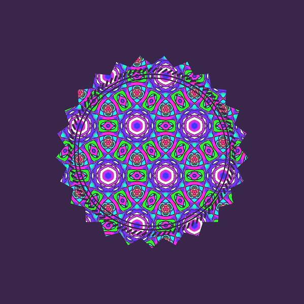 Digital Art - Purple Watercolor Mandala Pattern by Becky Herrera