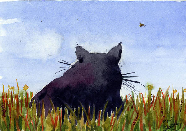 Painting - Purple Whimsy Cat by Mimi Boothby