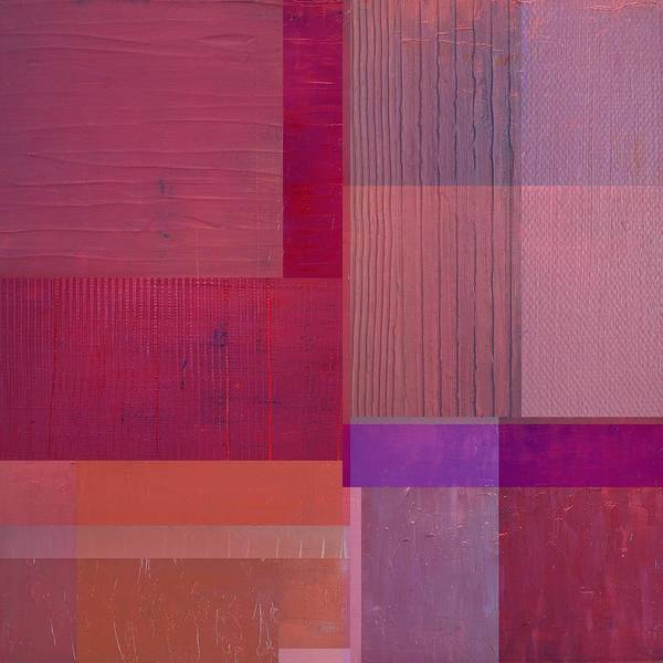 Painting - Purple With Vertical Stripes by Michelle Calkins