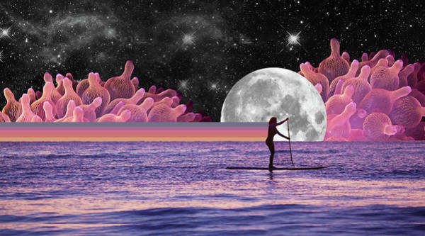 Surfer Digital Art - Purples Haze Sup by Lori Menna
