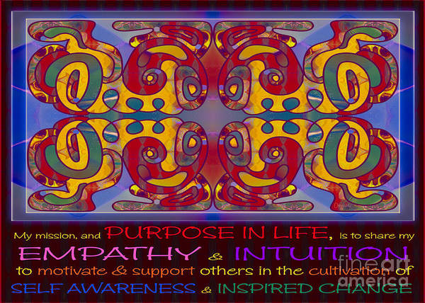 Digital Art - Purpose In Life Abstract Artwork By Omashte by Omaste Witkowski