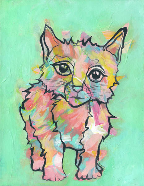 Painting - Purr-suasive by Darcy Lee Saxton