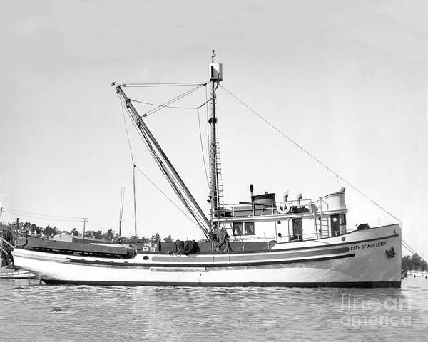 Photograph - Purse Seiner City Of Monterey At Monterey Dec. 24, 1937 by California Views Archives Mr Pat Hathaway Archives