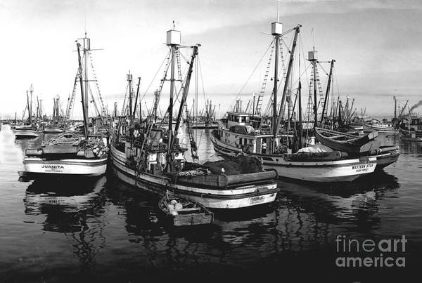 Photograph - Purse Seiner Juanita And Western Star Circa 1949 by California Views Archives Mr Pat Hathaway Archives
