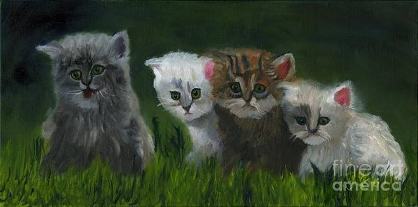 Wall Art - Painting - Puss And Boots Eaters by Gloria Condon
