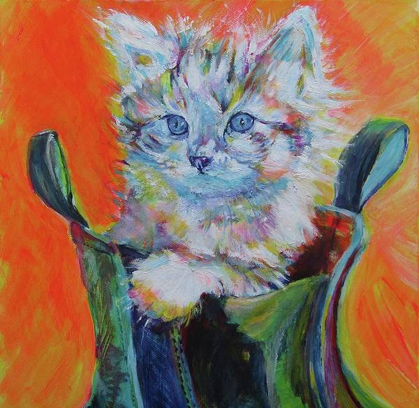 Wall Art - Painting - Puss In Boot  by Karin McCombe Jones