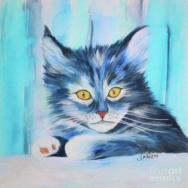Painting - Pussy Cat by Jutta Maria Pusl