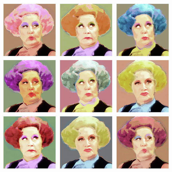Serve Digital Art - Pussy Galore - Nine Lives - Mollie Sugden Portrait, Are You Being Served? by Big Fat Arts